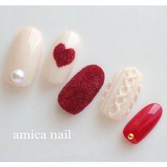 Love Nails, Pretty Nails, My Nails, Shellac Nails, Nail Manicure, Japanese Nails, Nagel Gel, Nail Arts, Winter Nails
