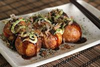 Takoyaki - (octopus dumplings) stylish japanese food