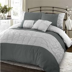 Jones Confection Embellished Duvet Cover Set Slate & Dove