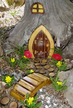 I just want to sneak a door onto one of the front trees.. All neighbor kids play in our yard... | For the Home | Pinterest | Gnome door Gnomes and Window & I just want to sneak a door onto one of the front trees.. All ...