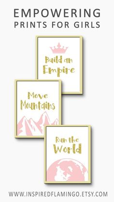 Girl Power bedroom decor gift for her Move mountains wall art modern nursery with positive quotes for kids pink and gold decoration Tween Girls Bedroo… – Preteen Clothing Pink Bedroom Decor, Baby Girl Nursery Decor, Bedroom Ideas, Bedroom Art, Modern Bedroom, Preteen Bedroom, Teen Girl Bedrooms, Pink And Gold Decorations, Pink Und Gold