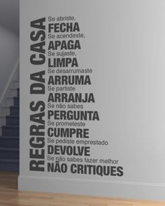 Textos - Regras da Casa em vinil autocolante - Decoração em vinil Autocolante…