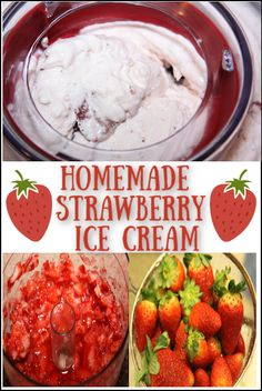 For Christmas last year my hubby got me an ice cream maker. It was one of those gadgets that we've been debating on for a while. Easy Dinner Recipes, Breakfast Recipes, Easy Meals, Dessert Recipes, Drink Recipes, Frozen Yogurt Recipes, Frozen Desserts, Frozen Treats, Homemade Strawberry Ice Cream