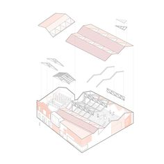 Gon-Gar Workshops Rehabilitation and Extension,Axonometric