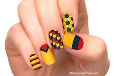 Más de 15 fotos de uñas decoradas con la bandera de Colombia | Decoración de Uñas - Manicura y Nail Art