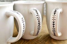 Trendy Coffee Art Diy Sharpie Mugs Sharpie Projects, Sharpie Crafts, Diy Sharpie Mug, Mug Decorating Sharpie, Sharpie Plates, Clay Projects, Pottery Painting, Diy Painting, Painting On Mugs