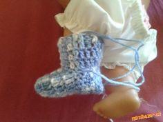 Návod na háčkované ponožtičky ~ BabyKlokánci