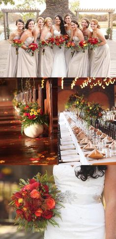 {Red, Orange & Yellow + Champagne} Fall Wedding|Photographer: Smith Squared Photography