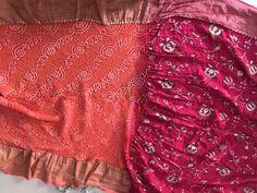 It's georgette with Monga silk bandhej saree Bandhani Saree, Banarasi Sarees, Alexander Mcqueen Scarf, Silk, Fashion, Moda, Fashion Styles, Fashion Illustrations, Silk Sarees