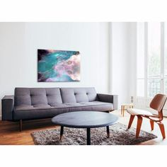 Soul Paradiso - This layered, beautifully blended print utilises electric blues and grizzly greys to create a compelling, complementary artwork sure to stir the imagination. Prints and paintings are available in a range of sizes and orientations on our website: www.united-interiors.com.au #interiors #interiordesign #painting #print #canvas #art #decor
