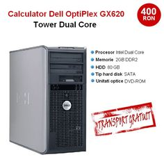 Calculator Dell OptiPlex Gx620 Tower Dual Core 2800- 2 gb ram- 80 gb hdd- dvd- la doar 400 lei! Transport Gratuit!