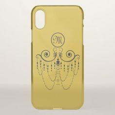 Swing Chandelier CHANGE COLOR Monogram - iPhone X Case - anniversary gifts ideas diy celebration cyo unique