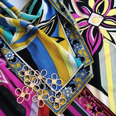 We can't get enough Emilio Pucci designs...These classic silk scarves are a true Scarf-It favorite!