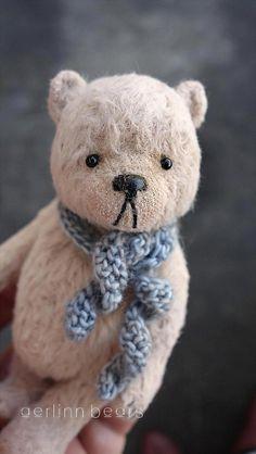 Let Me Be Your Teddy bear Miniature Viscose Artist by aerlinnbears