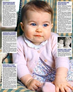 A closer look at the two pictures taken by the Duchess of Cambridge of six-month-old Princess Charlotte reveals an awful lot about their young subject.