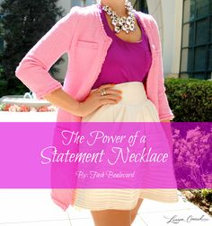 Style Tip: How to Wear Your Statement Necklace This Spring