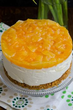 Cheesecake cu ananas si mango - Din secretele bucătăriei chinezești Cheesecake Recipes, Cookie Recipes, Dessert Recipes, My Favorite Food, Favorite Recipes, Torte Cake, Romanian Food, Mousse Cake, Dessert Bars