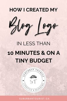 Learn how to create a blog logo for your blog that looks like it was made by a professional designer. But the secret is that you can create a logo diy in less than 10 minutes, and on a budget of less than $20 or for free! I review several options for creating a blog logo and branding your blog. #blogtips #bloglogo #logo #logodesign #logodesigntips #howtoblog #blogging101 #bloggingtips Logo Design Tips, Brand Design, Identity Design, Brand Identity, Design Design, Graphic Design, Make Money Blogging, Blogging Ideas, Blog Logo