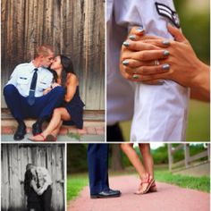 We will definitely have a cute air force engagement picture :)