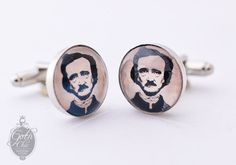 Edgar Allan Poe portrait Cufflinks  Great by GothChicAccessories, €16.00