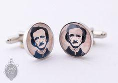 Edgar Allan Poe portrait Cufflinks  Great by GothChicAccessories, €16.00