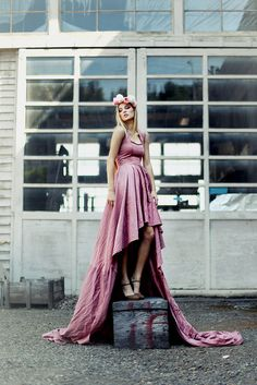 The Art History Dress  Rose Cotton Gown A Fairy by hollystalder, $825.00