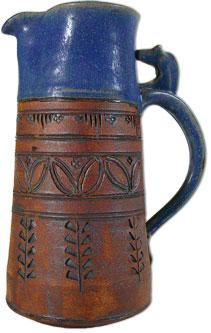 Fjord Horse Pitcher by Gene and Lucy Tokheim - inspired by old Norwegian wood carvings and other folk art