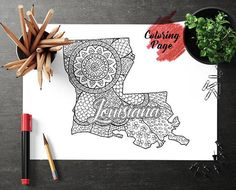 New York map coloring page Coloring page for adult Map US State