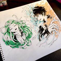 Boku no Hero Academia || Ibara Shiozaki, Todoroki Shouto (Dibujo/Drawing)