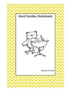This is a great product as a supplement to a word families lesson, extra help with word families, homework, or ESOL instruction.Each page contains 8-10 words and clues.  To challenge students, an extra sentence writing activity is included.  Challenge students further by having them make a word families dictionary, write a story with the words in the word group, or find synonyms and antonyms when possible.Word families include:-ain-ame-ank-are-ash-ate-eal-ear-ick-ight-ine-ink-umpThis…