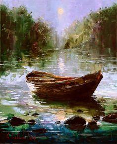 Gleb Goloubetski - Evening on a River