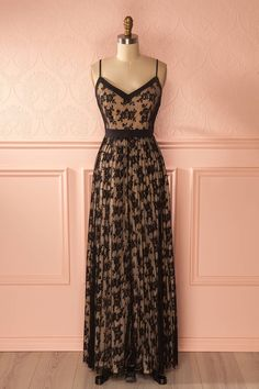 Just ordered this beauty! Jadelyn - Black lace and mesh maxi dress www.1861.ca