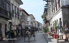 Crisologo Street in Vigan, Ilocos Sur [ Vigan, Ilocos Sur: Philippine . Ilocos, Vigan, Unique Architecture, World Heritage Sites, Philippines, Waterfall, Scenery, Around The Worlds, Street View
