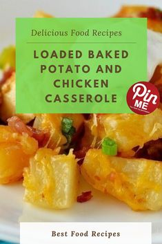 Loaded Baked Potato and Chicken Casserole Pro bird and potatoes bake together in this excellent loaded bird and potato casserole. My whole circle of relatives ate it very quickly and cherished it simply as tons as me. Yep, even the kiddos. Best Chicken Recipes, Chicken Salad Recipes, Potato Casserole, Chicken Casserole, Good Food, Yummy Food, Loaded Baked Potatoes, A5, Casseroles