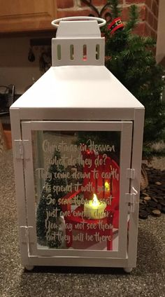 Christmas in Heaven lantern