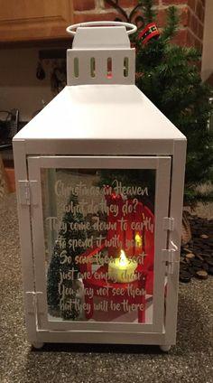 Christmas In Heaven Blocks Memorial Display Ornament