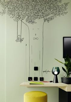 25hours Hotel Bikini Berlin - Picture gallery - awesome wall illustration