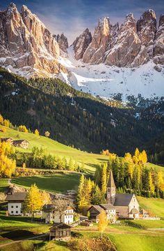 Dolomites from Santa Maddalena in Val di Funes