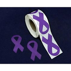 Our wholesale dark blue ribbon stickers are perfect for your colon cancer or child abuse prevention awareness fundraising event. Purple Ribbon Awareness, Awareness Ribbons, Blue Ribbon, Pancreatic Cancer Awareness, Alzheimers Awareness, Child Abuse Prevention, Purple Day, Paper Ribbon, Stickers