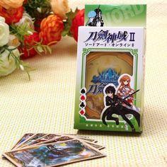 Jeux de cartes type Poker avec illustrations tirées du manga Sword Art Online