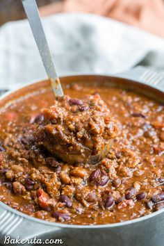 Made this in Instant Pot and it is delicious. My new go-to chili recipe. CP Oct 2018 This recipe for My Best Chili is a major favorite around here! It's a hearty, warming chili made with ground beef, bacon, sausage, and just the right amount of kick. Beef Chili Recipe, Chilli Recipes, Meat Recipes, Mexican Food Recipes, Cooking Recipes, Chili Recipe With Smoked Sausage, Ground Beef Chilli Recipe, Recipe For Chilli, Southern Chili Recipe