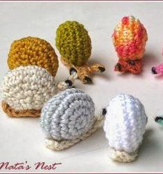❤ Színes mini amigurumi csigák (ingyenes horgolásminta) ❤Mindy - kreatív ötletek és dekorációk minden napra