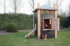 Foto: Leuk kippenhok. Geplaatst door hborreman op Welke.nl