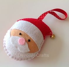 Hand Stitched Felt Santa Claus Christmas Decoration £6.50
