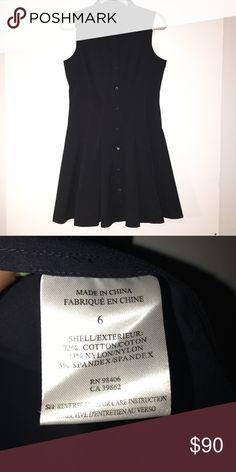 NWOT Theory Button Down Dress Black/ navy blue short sleeve, Button Down. NWOT Theory Dresses #buttondowndress