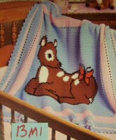 Precious Baby Deer Crochet Baby Afghan Pattern 13m1   eBay
