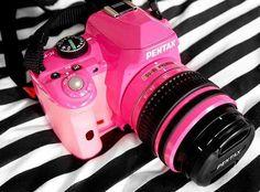 Câmera rosa.