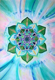 Painting Gallery Carol Herzer: Heart Chakra Painting