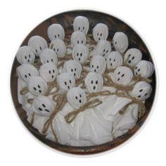Lollipop Ghosts Ceramic Knob - holidays diy custom design cyo holiday family