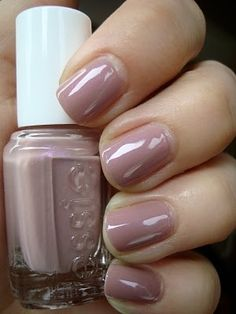 By Miss Louie. I LOVE this mauvey nude nail color